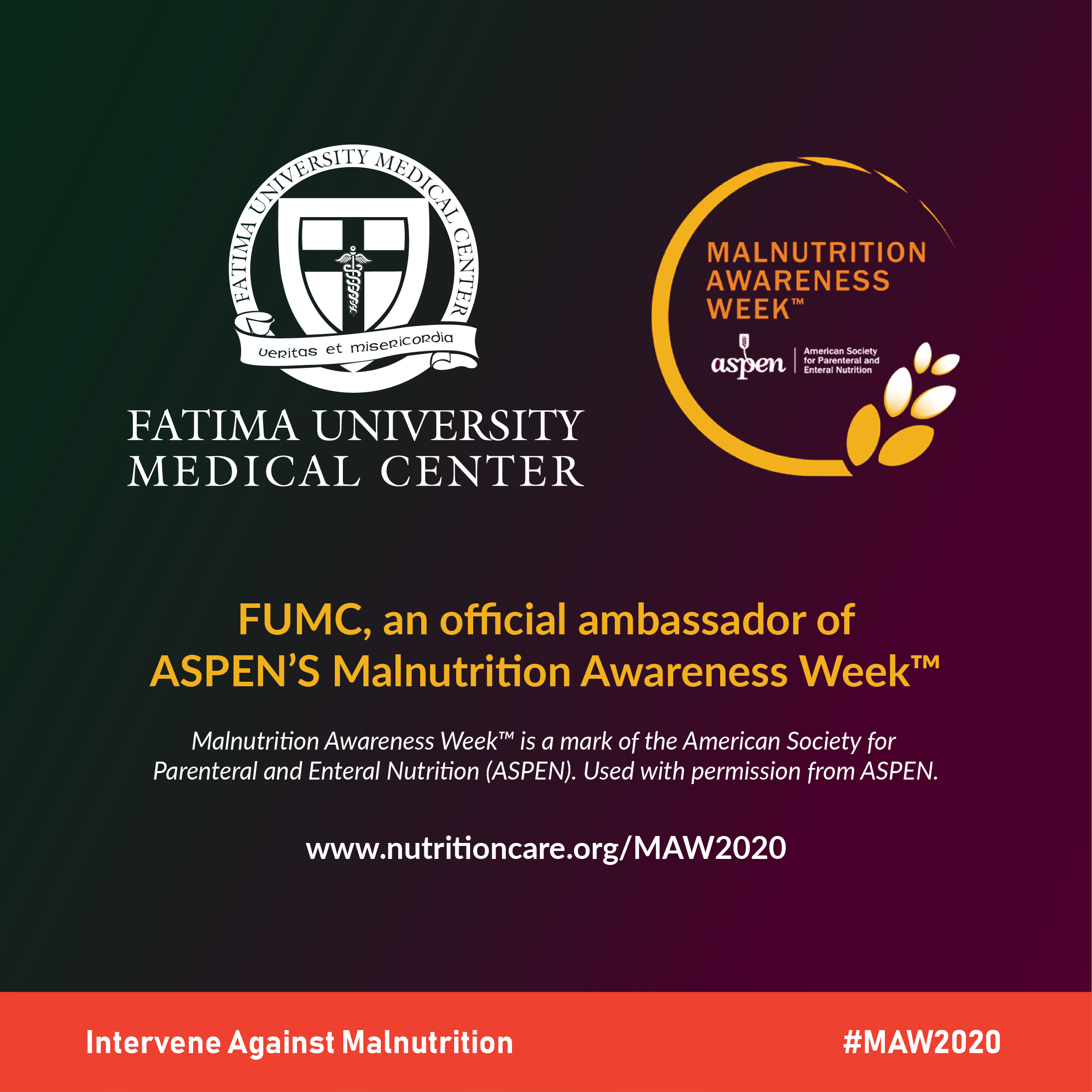 ASPEN with FUMC on Malnutrition Awareness Week 2020
